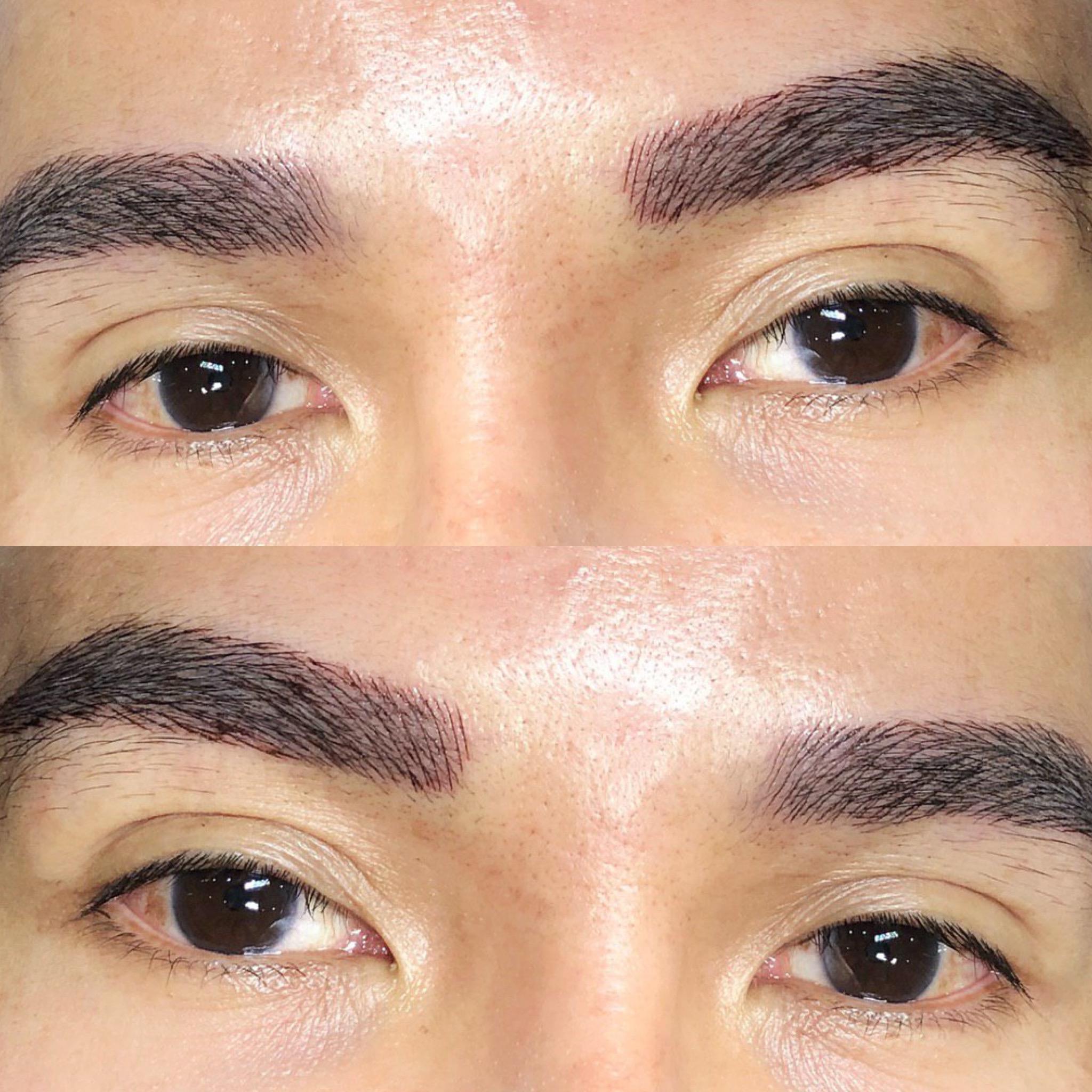 men eyebrow embroidery 2