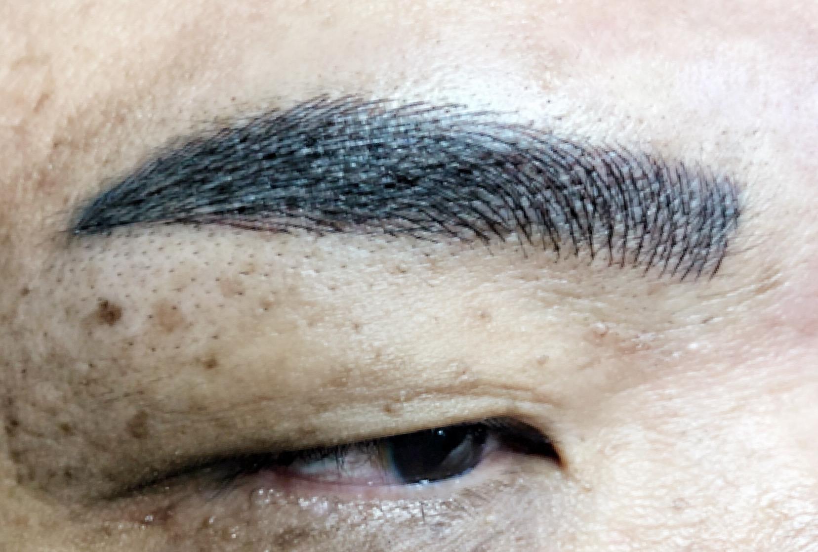 men eyebrow embroidery correction 2