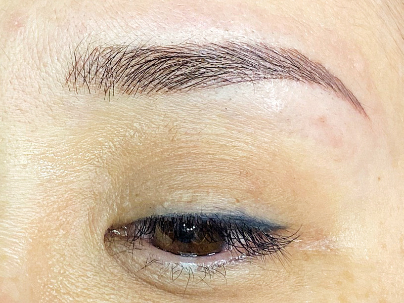 different microblading eyebrow embroidery