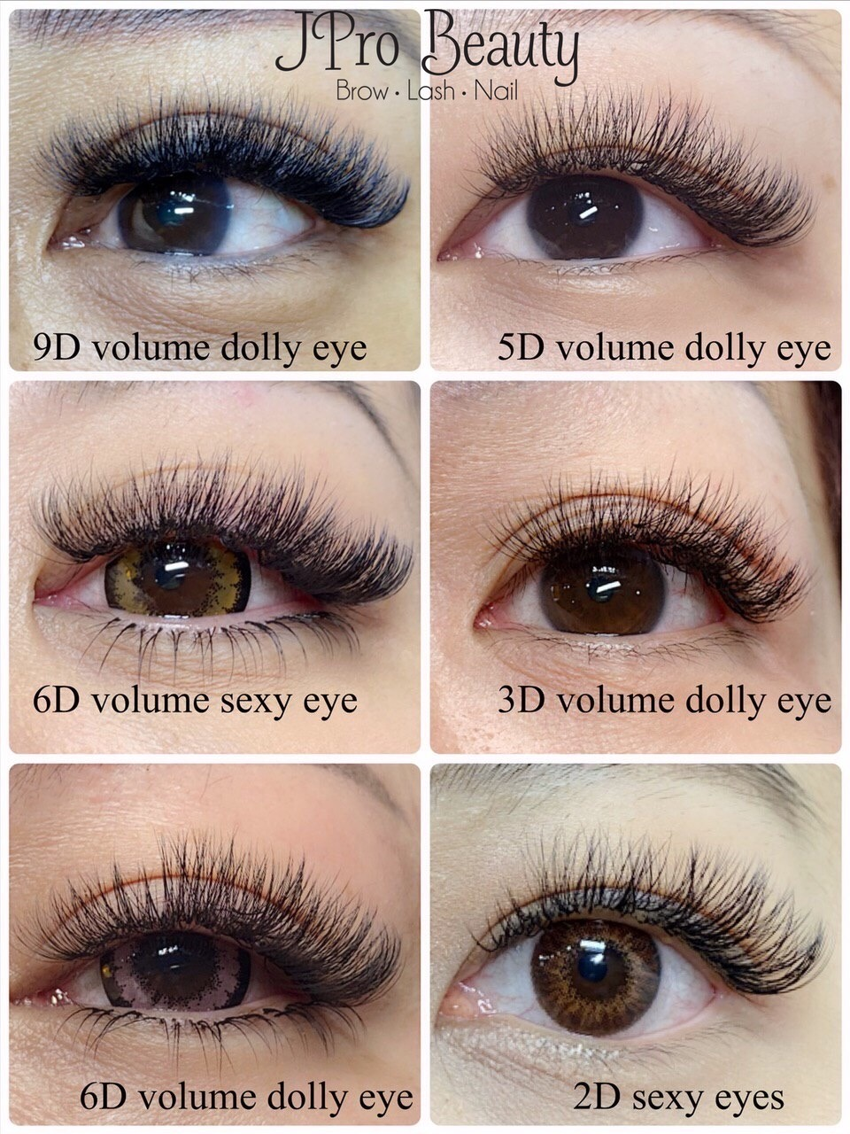 eyelash extensions what do i need to know_different volumes