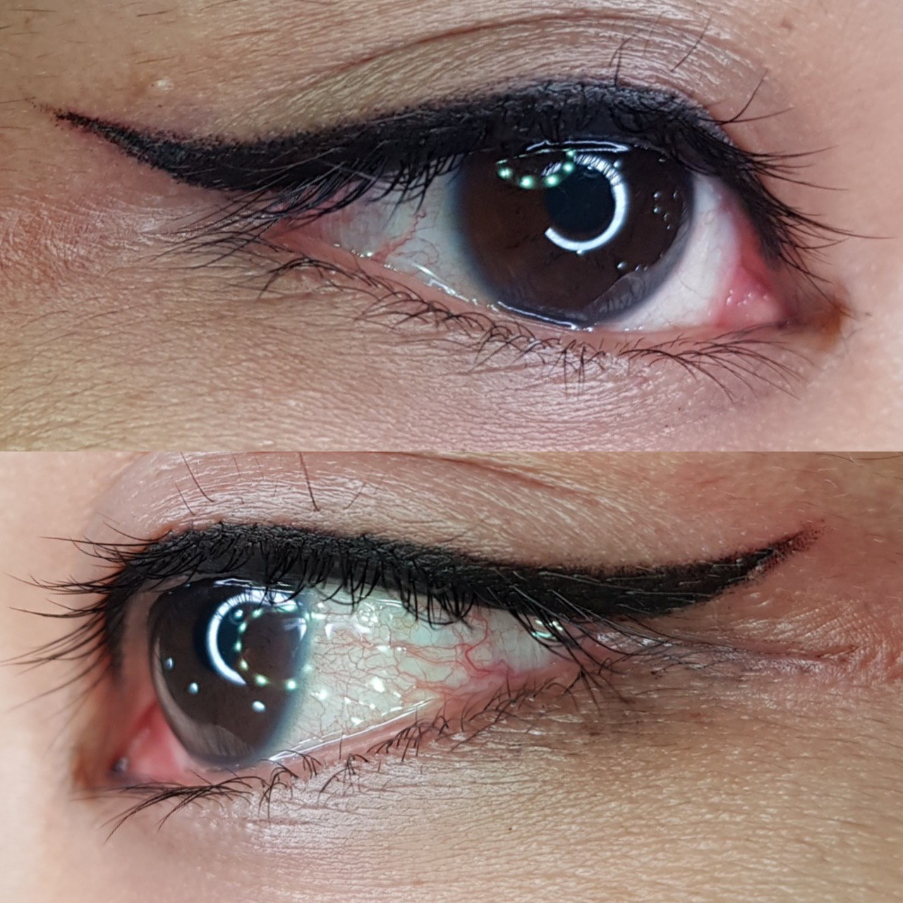 classic eyeliner embroidery