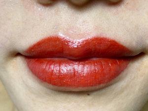 post lip blushing day 1