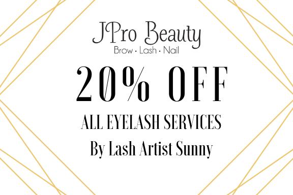 all eyelash services latest promotion